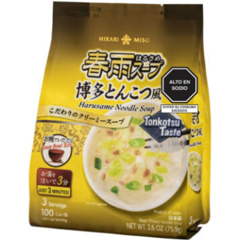 HIKARI MISO Harusame Tonkotsu Fu 75.9 G SIN COLOR Sopas, guisos y chile