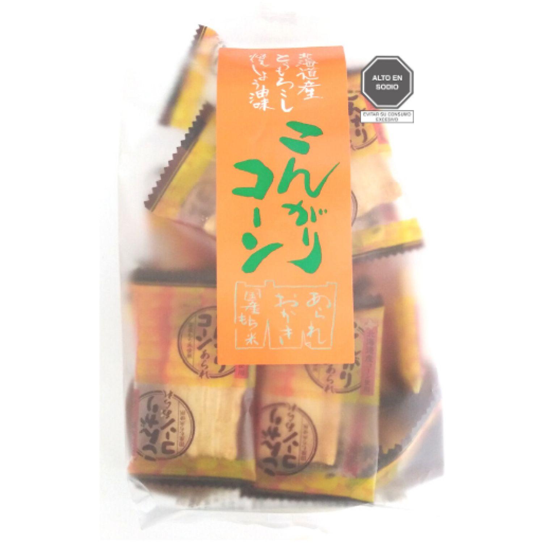 MORIHAKU KONGARI CORN SIN COLOR Pasteles de arroz, patatas fritas y galletas
