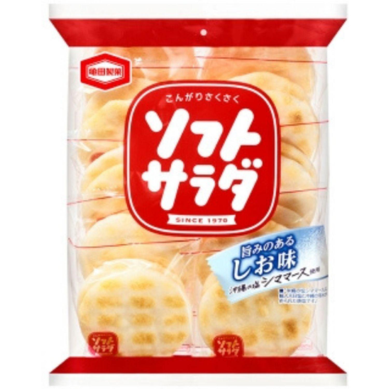 KAMEDA KAMEDA RICE SOFT SALAD 4.93 OZ (140G) SIN COLOR Pasteles de arroz, patatas fritas y galletas