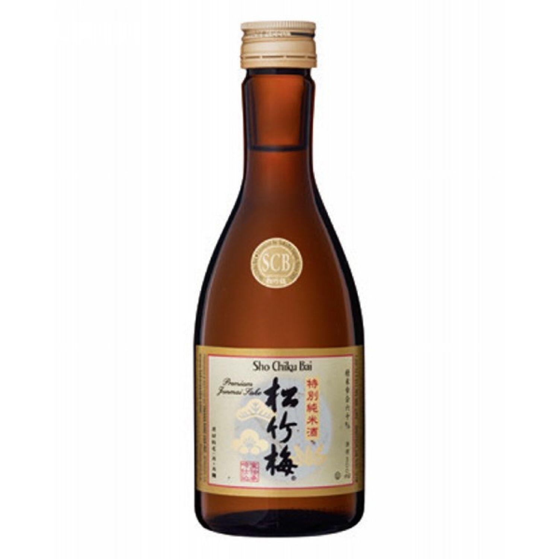 SHO CHIKU BAI SCB TOKUBETSU JUNMAI 300 ML (+5) SIN COLOR Licor de Arroz y Sake