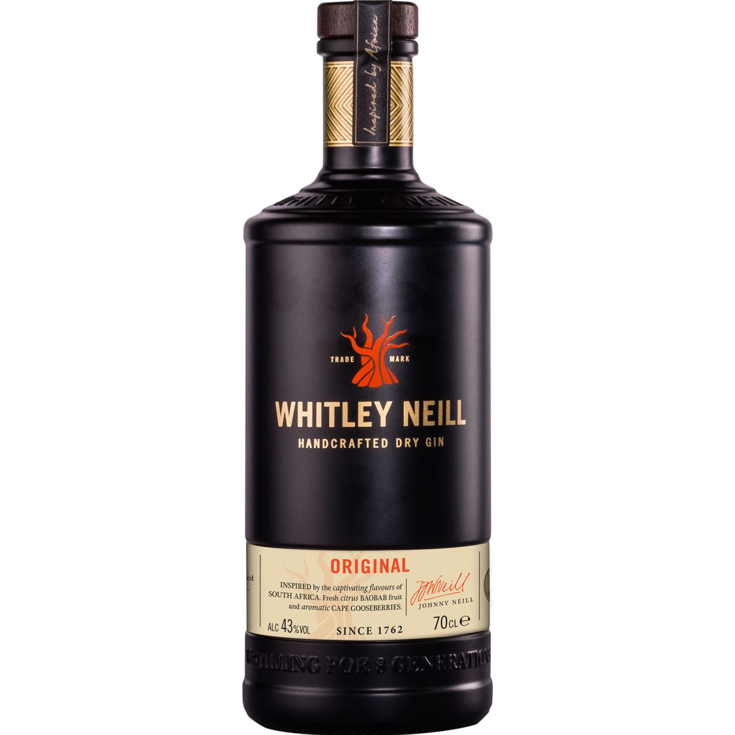 Whitley Neill Whitley Neill Dry Gin 700 ML SIN COLOR Gin