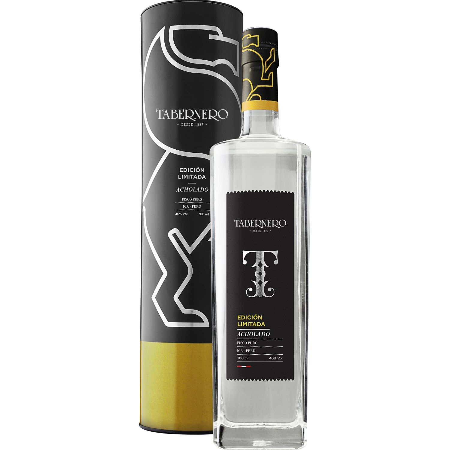 TABERNERO Edición Limitada Acholado 700ml SIN COLOR Brandy y aguardientes