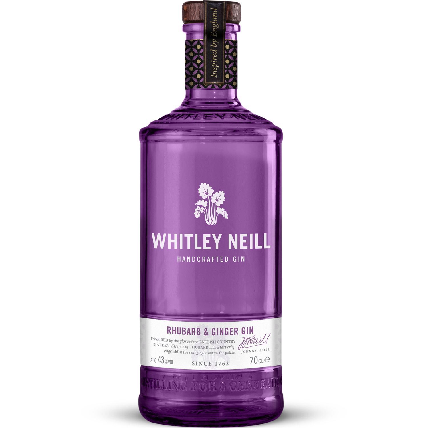 Whitley Neill Rhubarb & Ginger Gin 700 ML SIN COLOR Gin