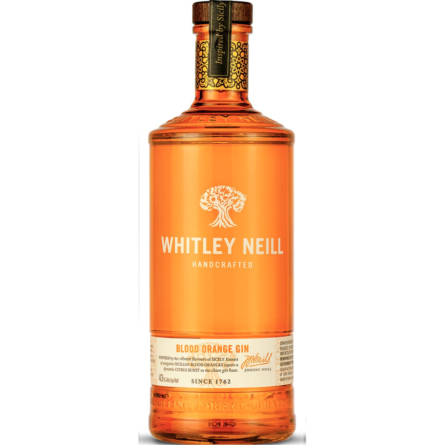 Whitley Neill Blood Orange Gin 700ML SIN COLOR Gin