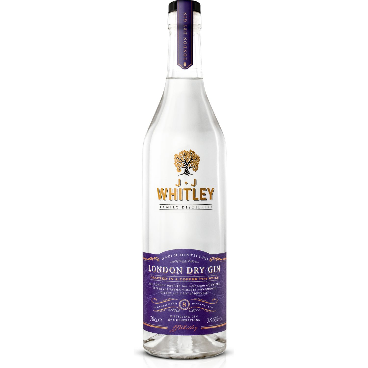JJ Whitley JJ Whitley London Dry Gin 700ML SIN COLOR Gin