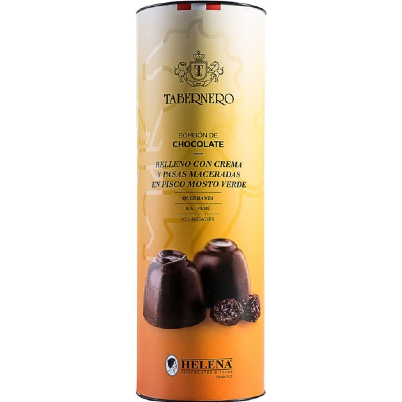 TABERNERO chocolate c/crema, pasas y pisco 10 und SIN COLOR Trufas de chocolate