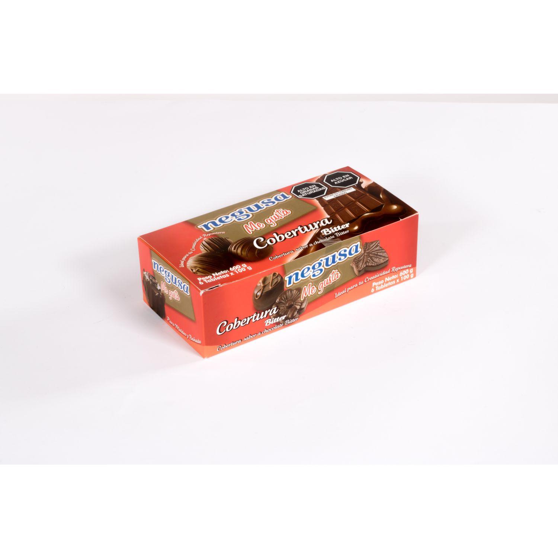 NEGUSA 6u X 100gr Cobertura Bitter Caja MARRON OSCURO chocolates