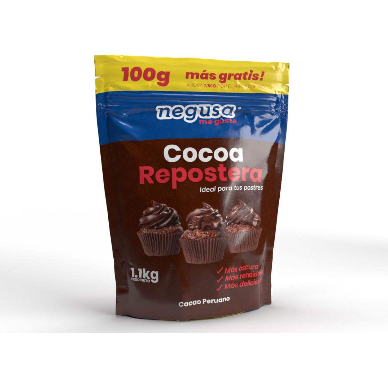 NEGUSA 1kg+100gr Cocoa Repostera MARRON OSCURO Cacao