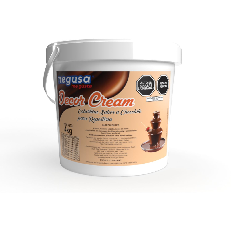 NEGUSA 4kg Cobertura Bitter Decor Cream MARRON OSCURO chocolates
