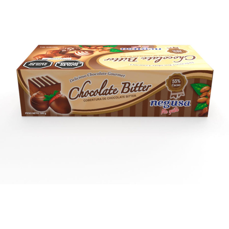 NEGUSA 5 X 100Gr COBERTURA DE CACAO CAJA MARRON OSCURO chocolates