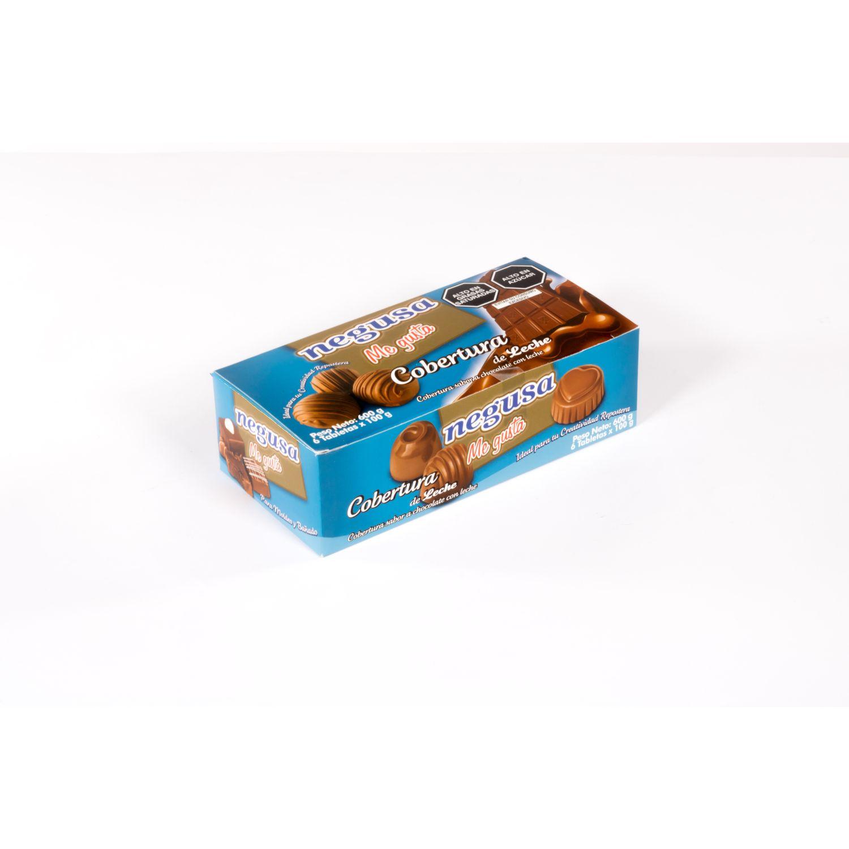 NEGUSA 6u X 100Gr COBERTURA DE LECHE CAJA MARRON chocolates