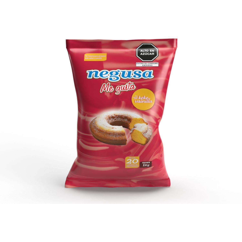 NEGUSA 1kg Premezcla Para Keke Sabor Vainilla AMARILLO tortas