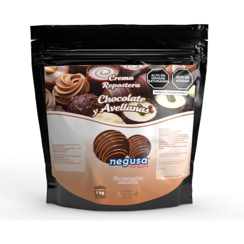 NEGUSA Crema Repostera de Chocolate y Avellanas MARRON Decoraciones de glaseado