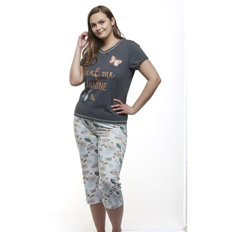 Kayser Pijama Capri Algodón GRIS Camisones y camisetas de dormir