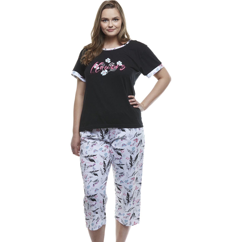 Kayser Pijama Capri Algodón NEGRO Camisones y camisetas de dormir