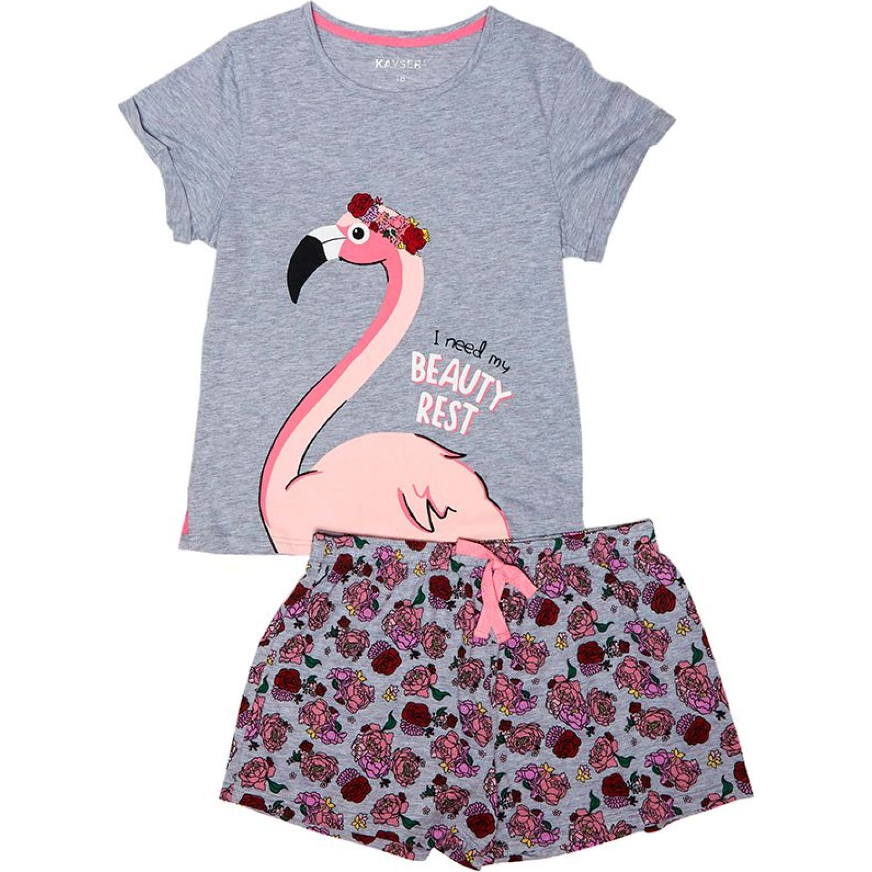 Kayser Pijama Algodón GRIS Conjunto de pijama