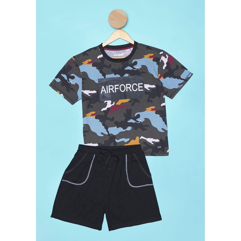 Kayser Pijama Algodón NEGRO Conjunto de pijama