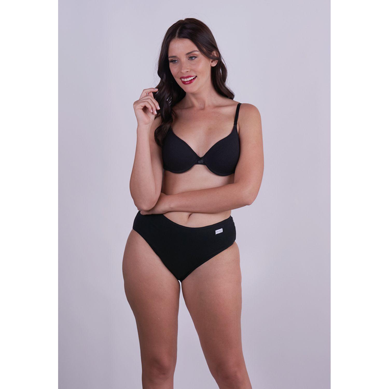Kayser PANTALETA CON ENCAJE 10.184 NEGRO Bikinis