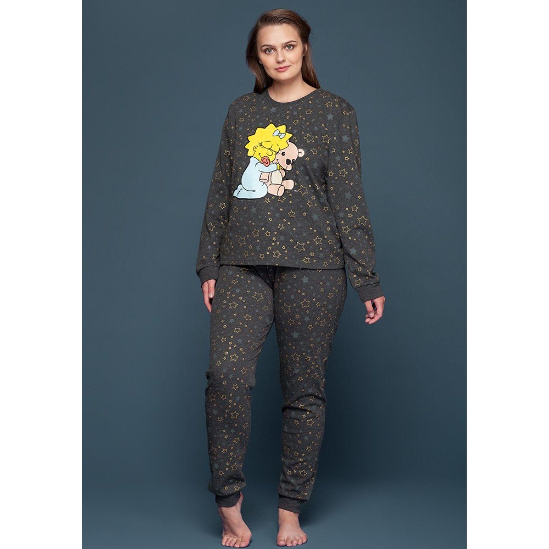 Kayser Pijama Dama S6053 Algodón Negro NEGRO Camisones y camisetas de dormir