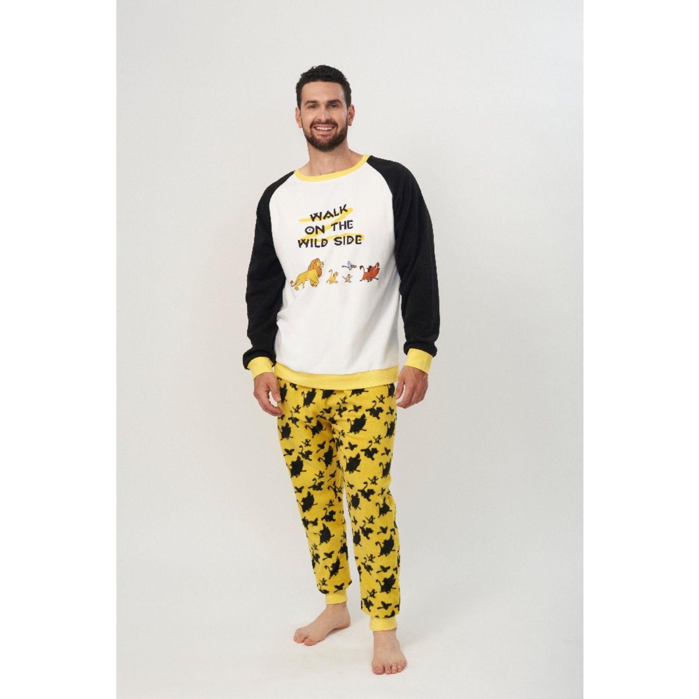 Kayser Pijama Caballero D6722 Polar Amarillo AMARILLO Conjuntos para dormir