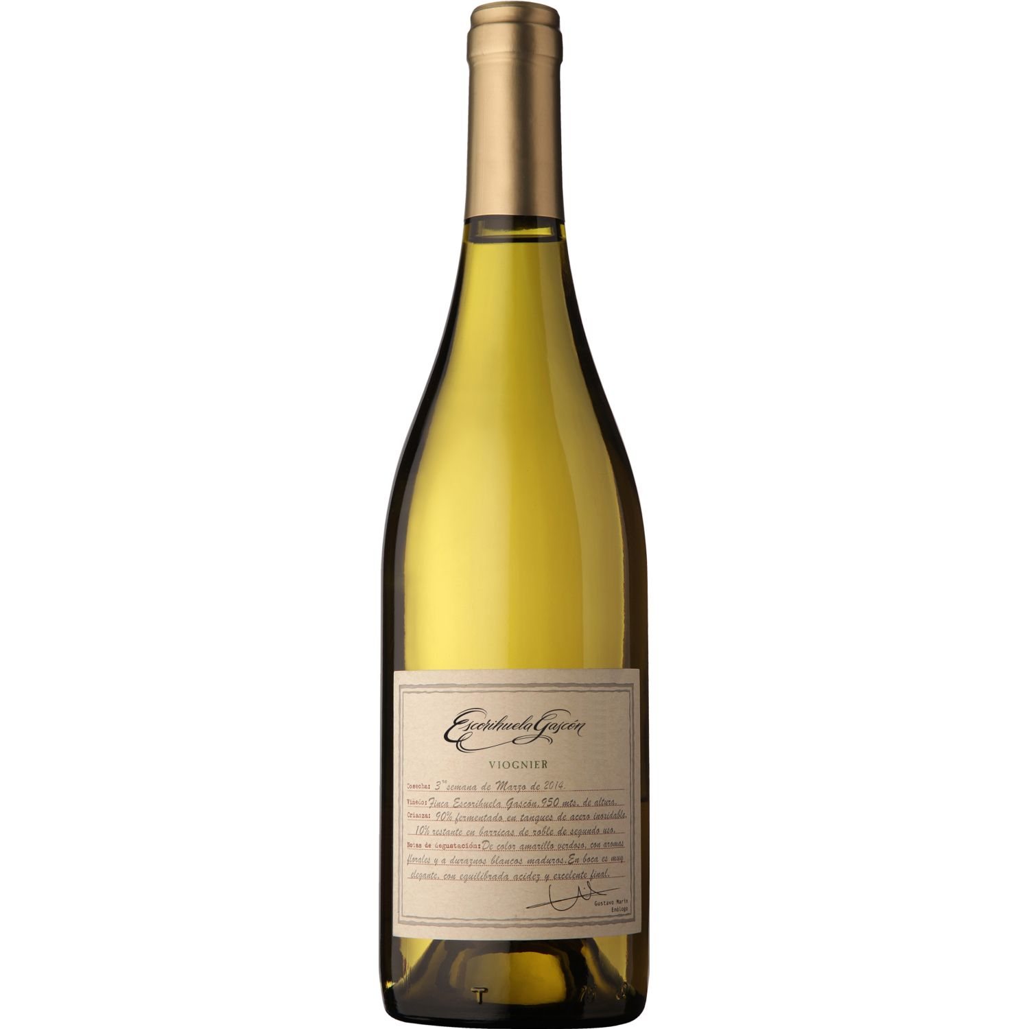 ESCORIHUELA GASCON Vino Blanco Viognier X 750ml SIN COLOR Blanco