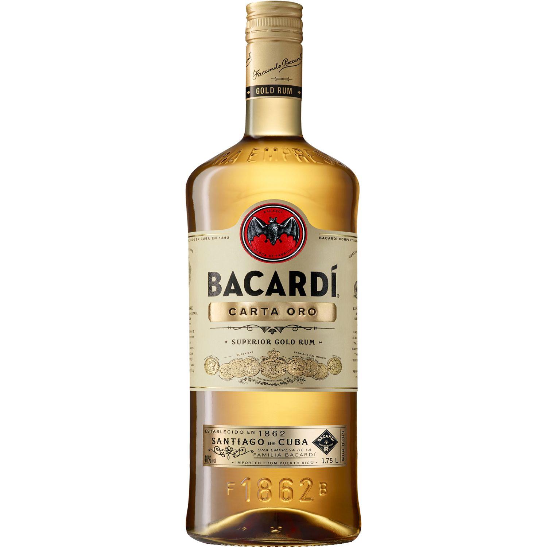 BACARDI Ron Carta Oro Garrafa X 1.75lt SIN COLOR Ron