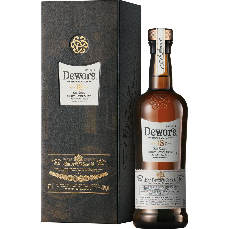 DEWAR'S Whisky 18 Años X 750ml SIN COLOR Whisky y Scotch