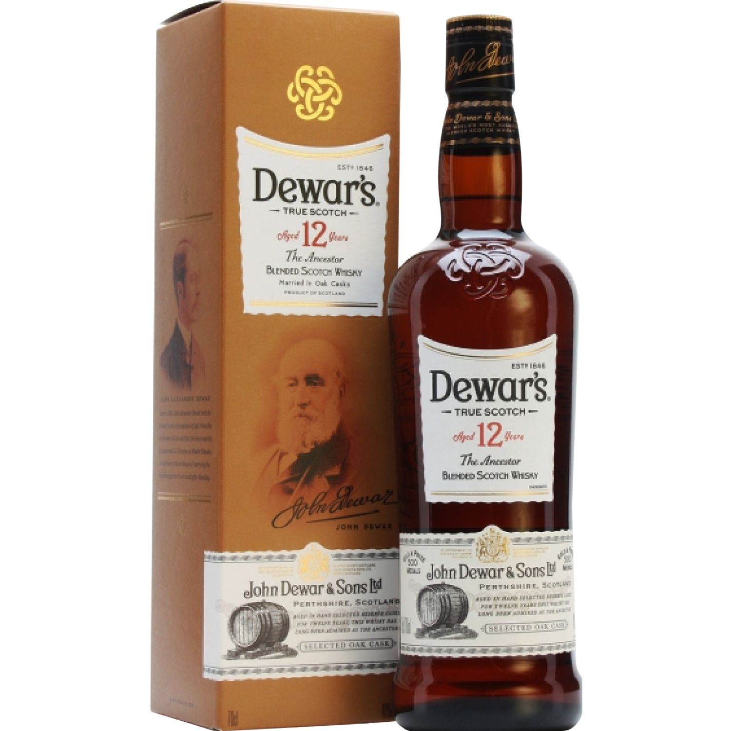 DEWAR'S Whisky 12 Años X 750ml SIN COLOR Whisky y Scotch