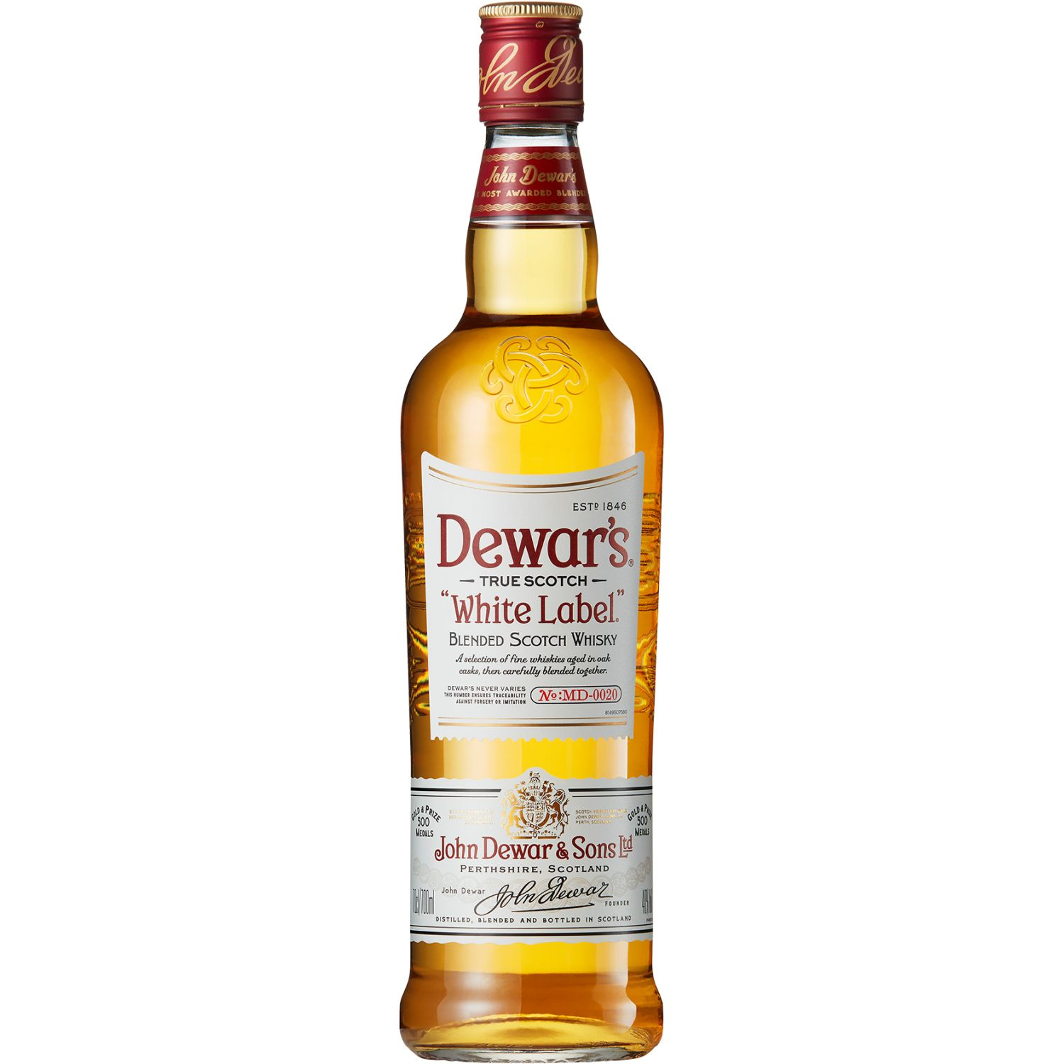 DEWAR'S Whisky Estándar X 750ml SIN COLOR Whisky y Scotch