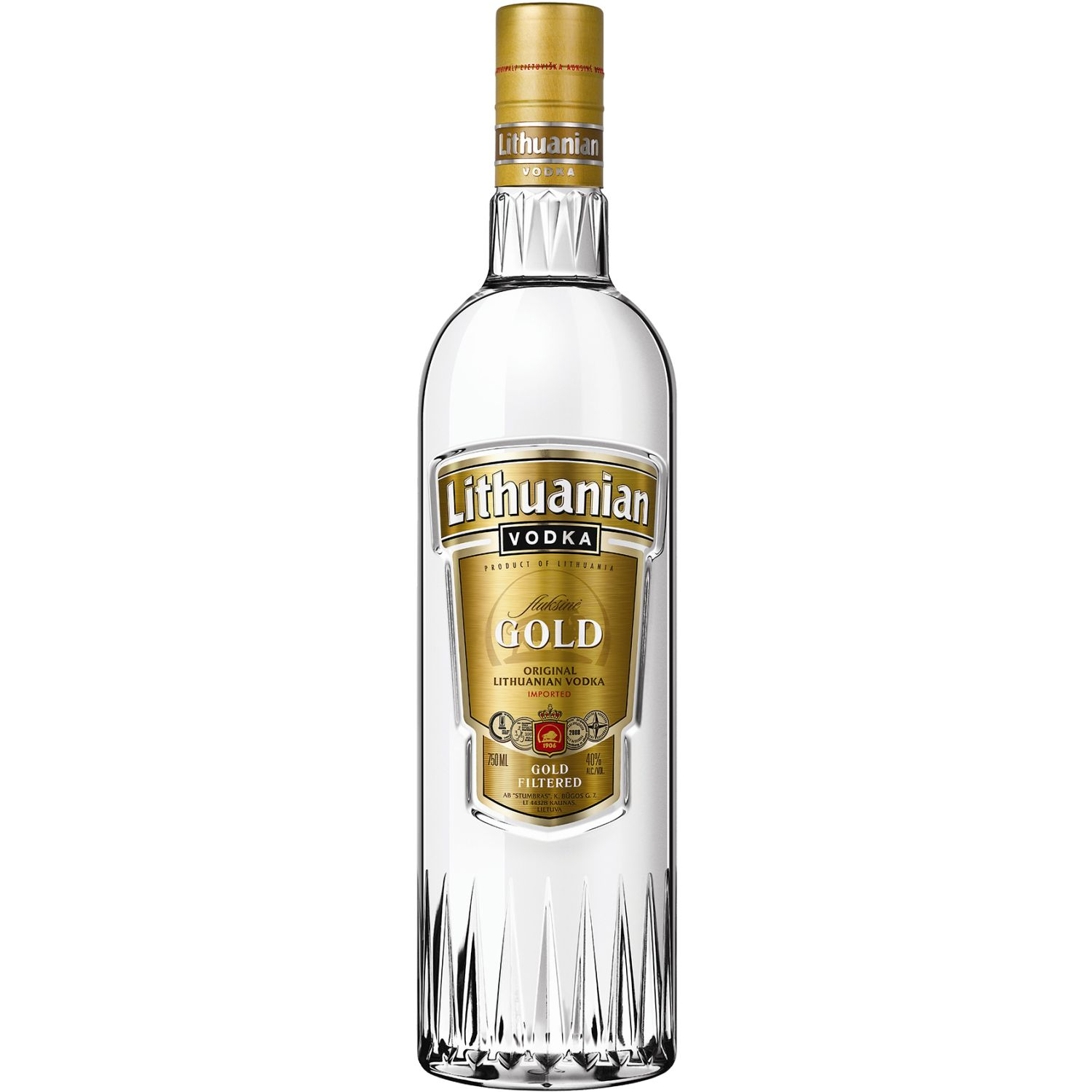 LITHUANIAM Vodka Gold X 1 Lt. SIN COLOR Vodka