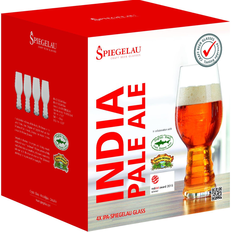 SPIEGELAU BEER CLASSIC SET X4 VASOS DE CERVEZA IPA TRANSPARENTE vasos de cerveza