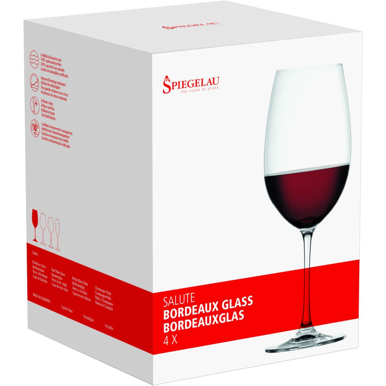 SPIEGELAU SALUTE SET X4 COPA DE CRISTAL BORDEAUX TRANSPARENTE Copas de vino