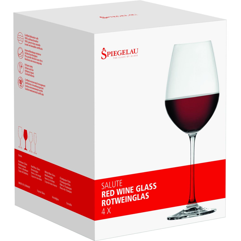 SPIEGELAU SALUTE SET X4 COPA DE CRISTAL VINO TINTO TRANSPARENTE Copas de vino