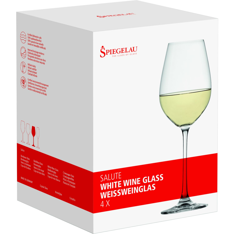 SPIEGELAU Salute Set X4 Copa De Cristal Vino Blanco TRANSPARENTE Copas de Vino