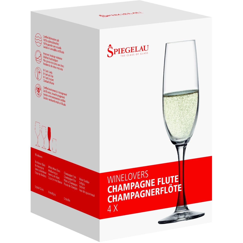SPIEGELAU WINELOVERS SET X4 COPA DE CRISTAL CHAMPAGNE TRANSPARENTE copas de champán