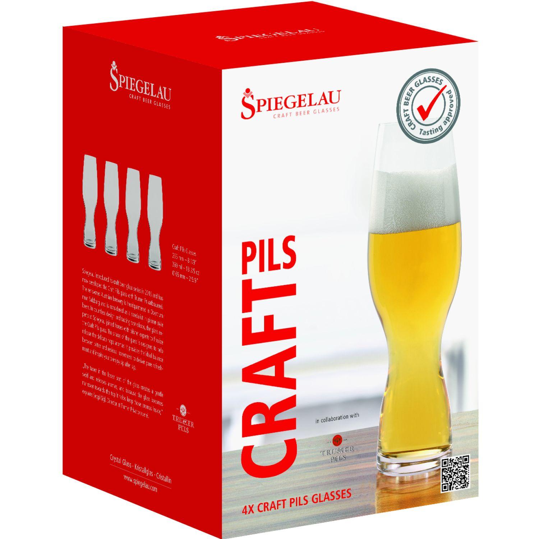 SPIEGELAU BEER CLASSIC SET X4 VASOS DE CERVEZA PILSENER TRANSPARENTE vasos de cerveza