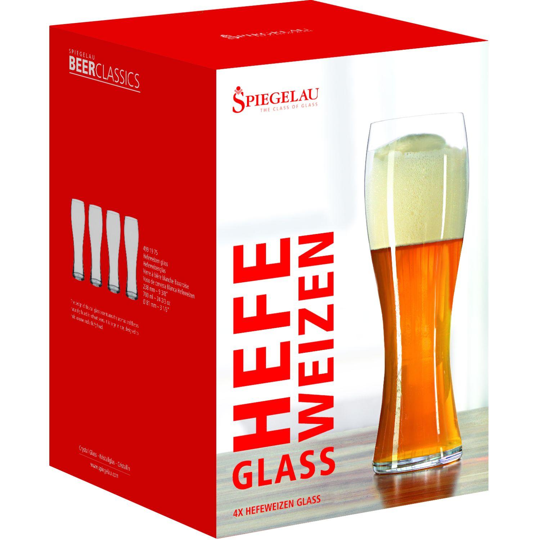 SPIEGELAU BEER CLASSIC SET X4 VASOS DE CERVEZA HEFEWEIZEN TRANSPARENTE vasos de cerveza
