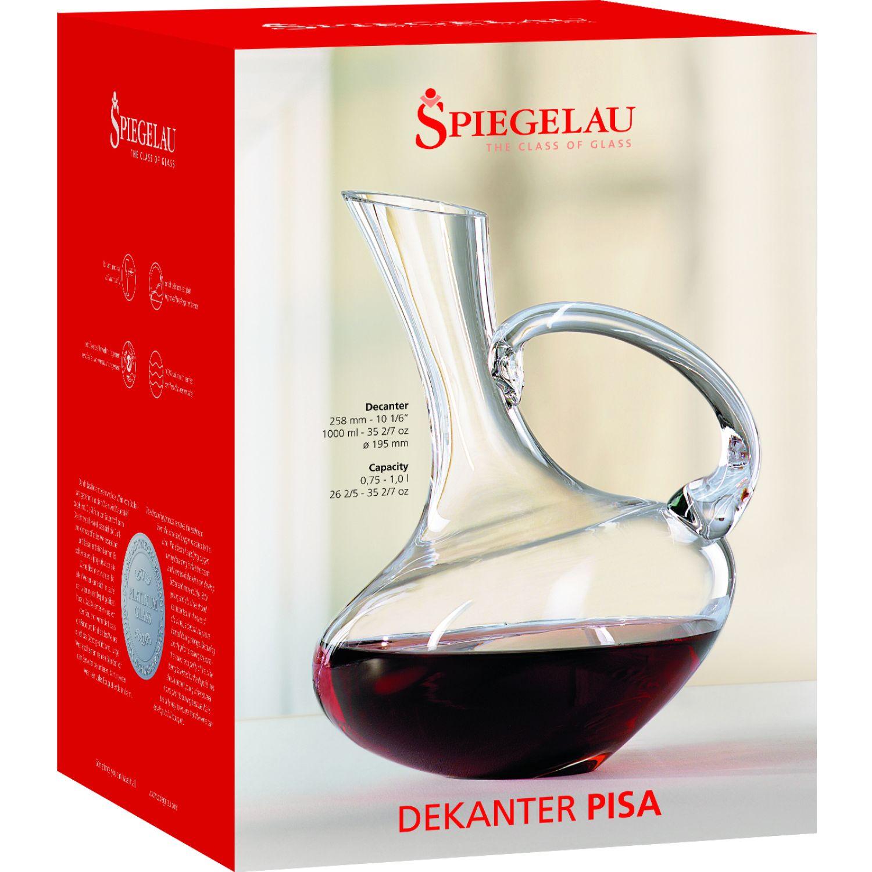 SPIEGELAU Decanters Set X1 Decantador Pisa X 1lt TRANSPARENTE Decantadores de Vino