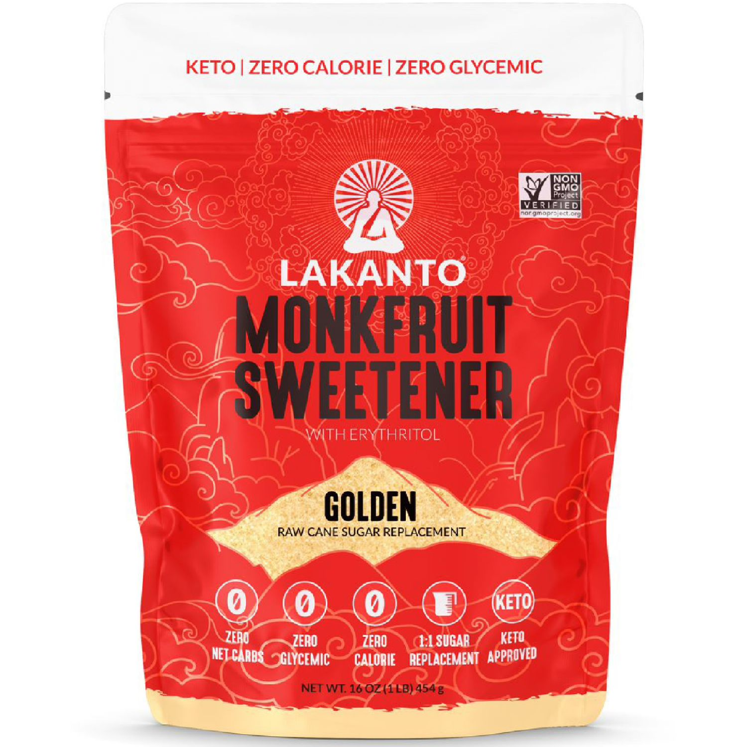 Lakanto Endulzante Golden 454g SIN COLOR azúcares