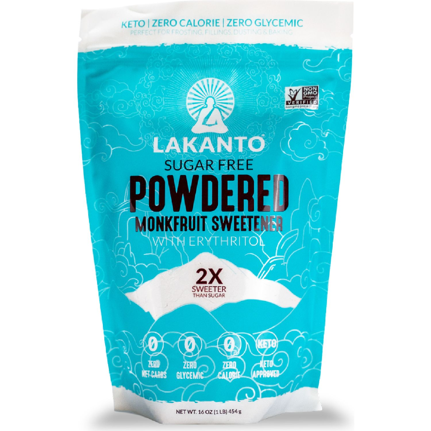 Lakanto Endulzante Powdered 454g SIN COLOR azúcares