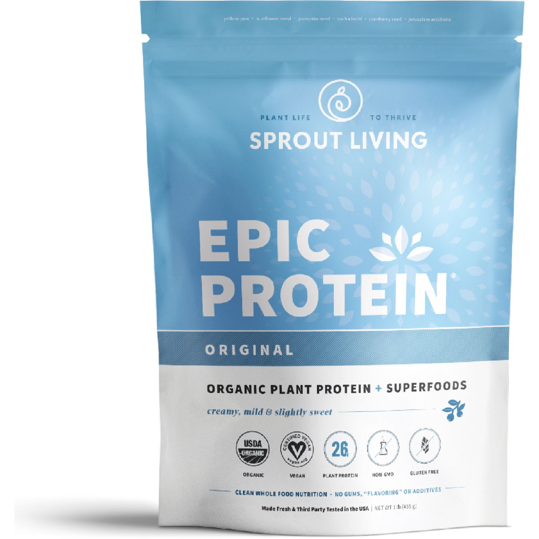 Sprout Living Proteína Vegana Epic Protein Original 1lb SIN COLOR Mezclas