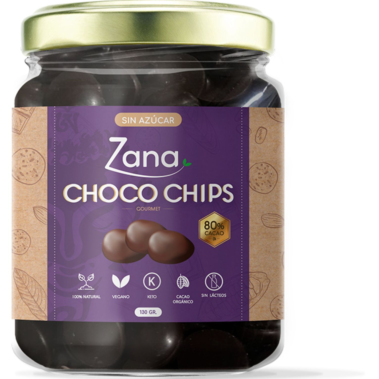 Zana Choco Chips 130g SIN COLOR Surtidos de dulces y chocolate