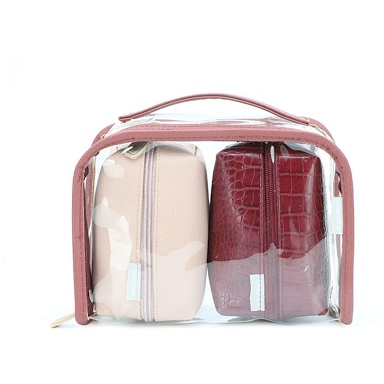 CREPIER Portacosmético Niella BURGUNDY Cosmetiqueras