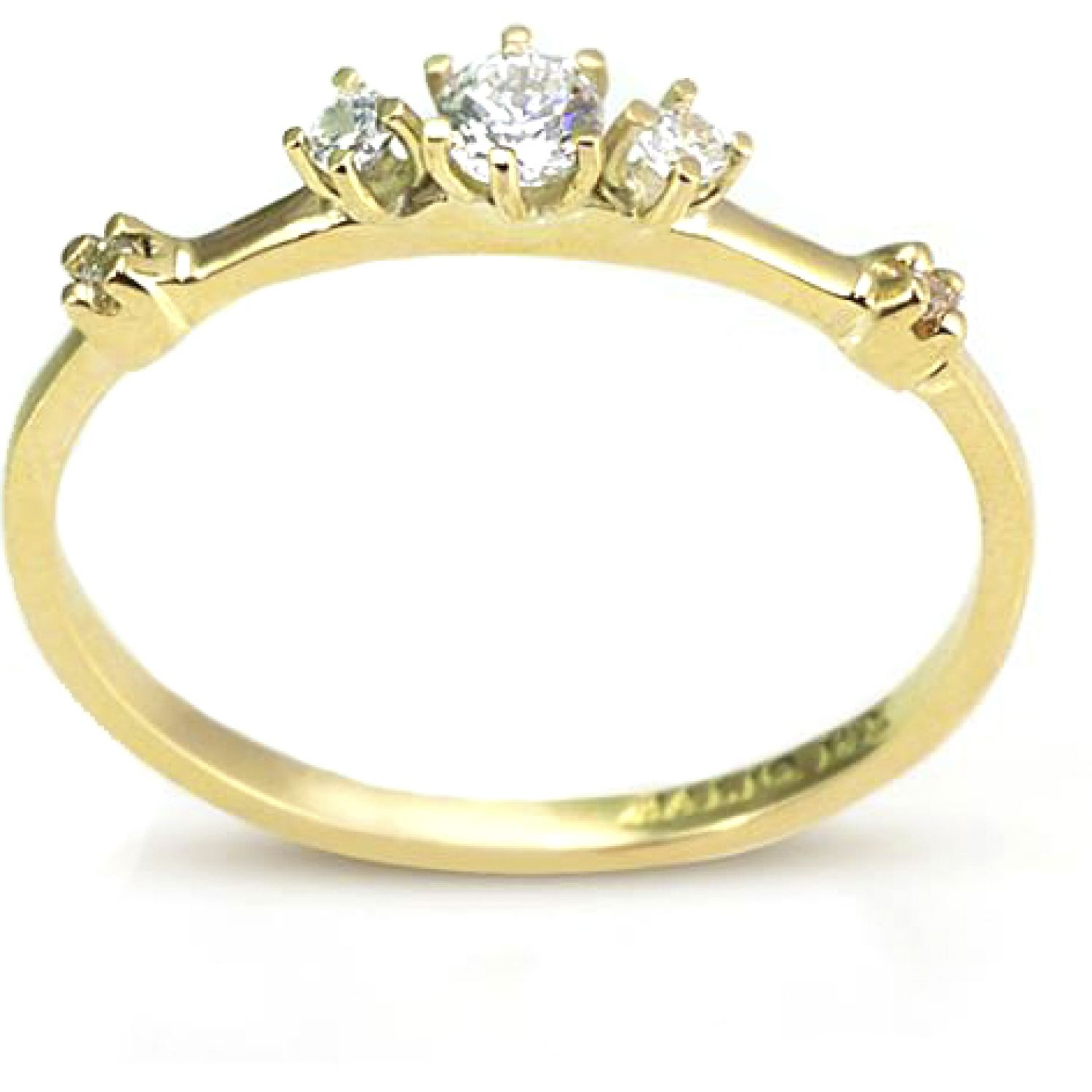 BALIQ Anillo Alondra Trio Oro 18k ORO Stacking
