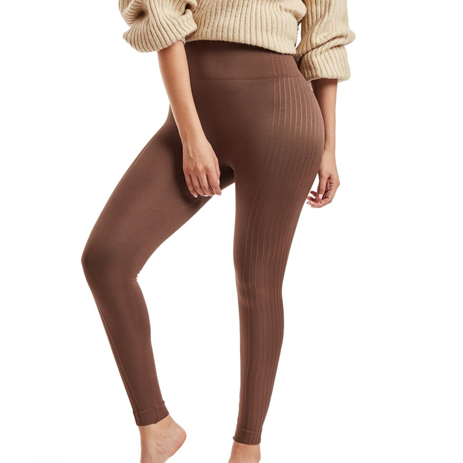 KOKETA SEAMLESS LEGGING CATALINA OI20 MARRON BAG Leggings