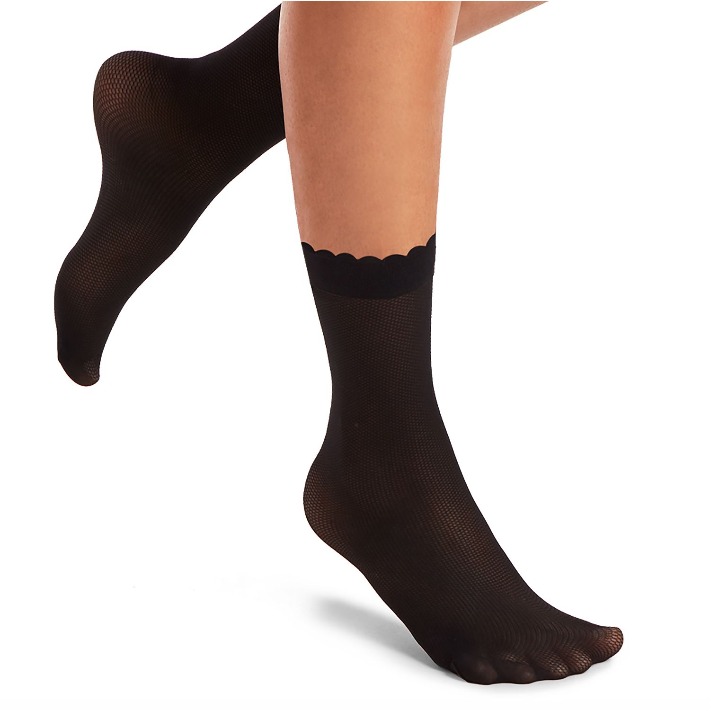 KOKETA Silver M/Pantalon Socket Spt Net 2020 NEGRO Medias y panties