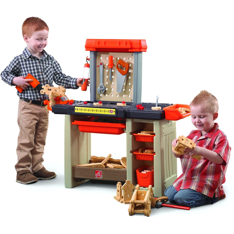 STEP 2 Taller Mesa De Trabajo - Naranja NARANJA Herramientas de juguete