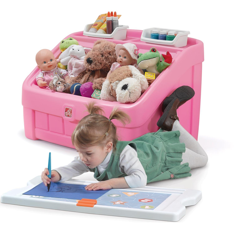 STEP 2 2 En 1 Caja De Juguetes - Rosado ROSADO Baúles y organizadores de juguetes