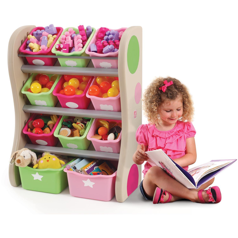 STEP 2 Organizador de Juguetes - Rosado ROSADO Cofres y organizadores de juguete