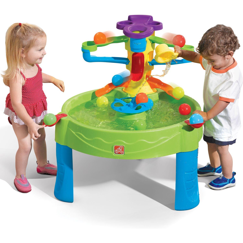 STEP 2 Mesa para jugar con agua y pelotas VERDE Centros de actividad de juego